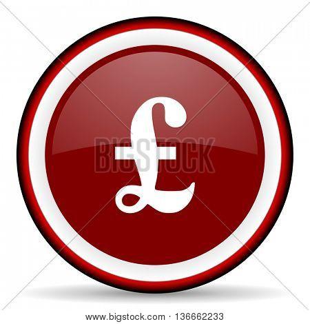 pound round glossy icon, modern design web element