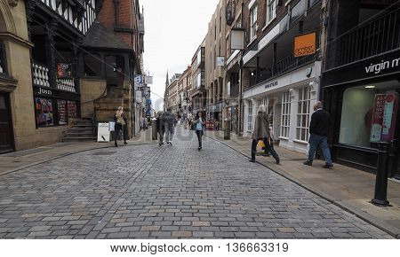 View Of Chester Old City Centre