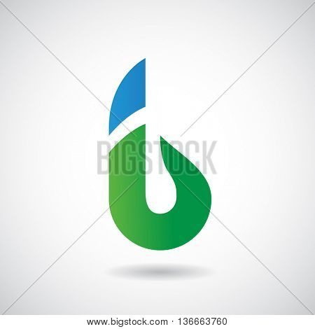 Design Concept of a Colorful Stock Logo Icon of Letter B, Vector Illustration