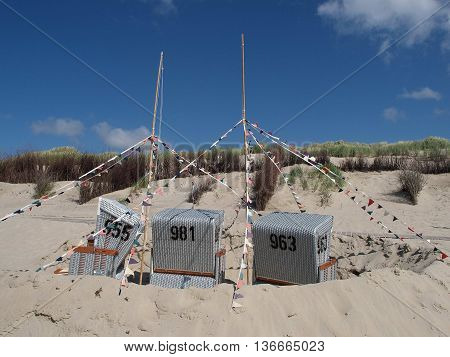 the beach of Langeoog in eastern frisia