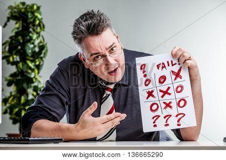 Office Worker Observing An Evident Error