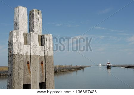 the Harbour of norddeich in eastern frisia