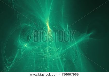 green glow energy wave. lighting effect abstract background. This image is suitable for any purpose such as science fantastic sci-fi horror supernatural and etc.