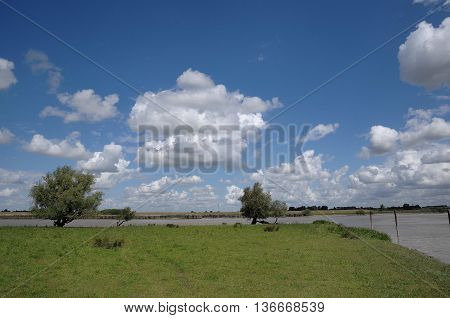 Eastern frisia and the river ems in germany