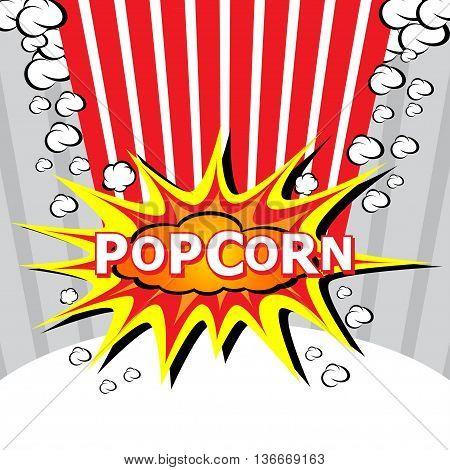 Popcorn design explosion, Cartoon Vector Illustration. Eps 10