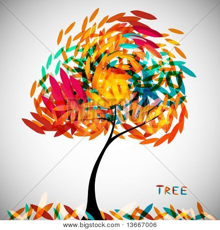 abstract colorful tree