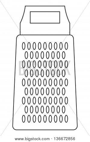 simple line design kitchen grater icon vector illustration