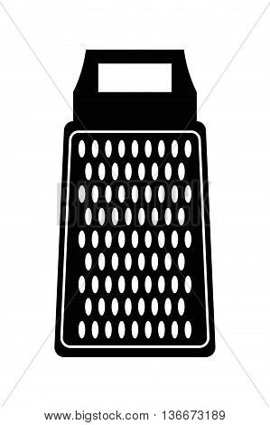simple flat design kitchen grater icon vector illustration