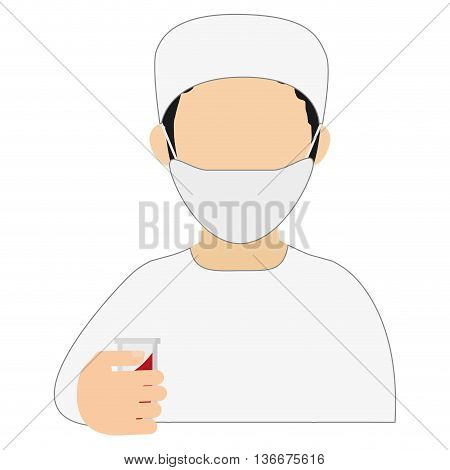simple flat design medic or doctor icon vector illustration