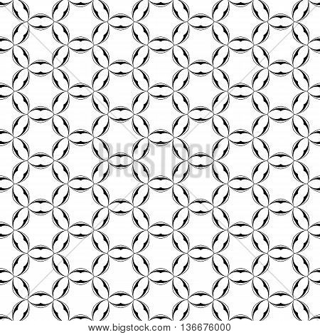 Circles Stars Celtic Geometric Seamless Pattern with circles. Paper for scrapbook. Vector background. Tiling. Stylish elegant simple graphic your design, pattern fills.