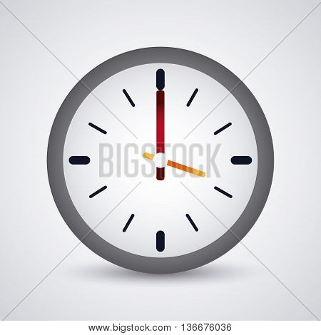 Time concept represented by colorfull Clock icon. Isolated and flat illustration