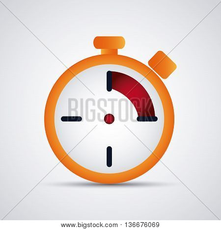 Time concept represented by colorfull Chronometer icon. Isolated and flat illustration