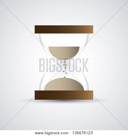 Time concept represented by colorfull hourglass icon. Isolated and flat illustration