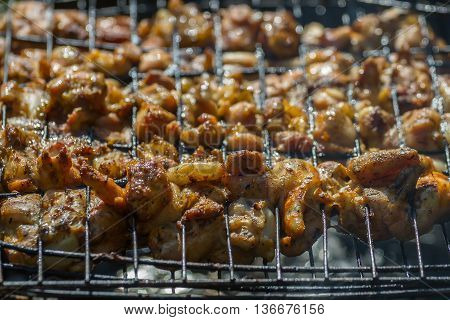 Barbecue Chicken Cooking