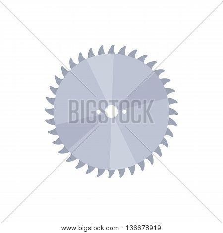 Drive for saw icon in cartoon style isolated on white background. Cutting symbol