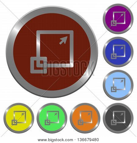Set of color glossy coin-like maximize window buttons.