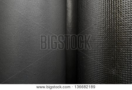 Reflective foil in roll texture background stock photo