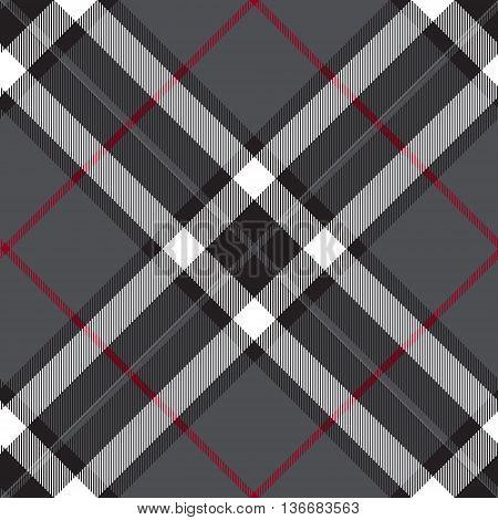 Gray fabric diagonal check seamless texture. Vector illustration.