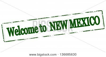 Rubber stamp with text welcome to New Mexico inside vector illustration