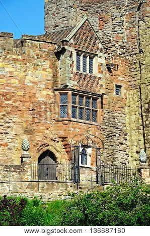 View of part of the Norman castle Tamworth Staffordshire England UK Western Europe.
