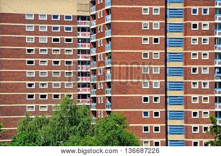 Residential tower blocks Tamworth Staffordshire England UK Western Europe.