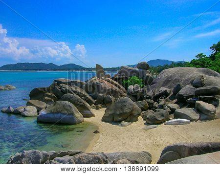 Grandfather rock and Grand mother rock, Lamai beach, Koh Samui