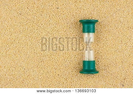 Hourglass and the grain of millet a conceptual time and food