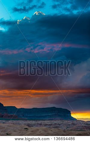 Bull Ridge At Sunset Hole In The Rock Utah