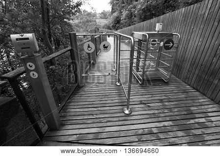 Turnstile For Walking Pedestrians