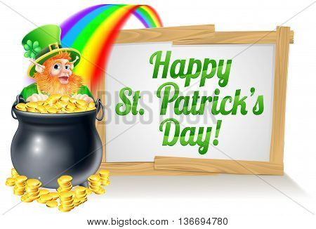 St Patricks Day Sign 2015 B1
