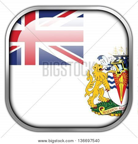 Flag Of The British Antarctic Territory, Square Glossy Button