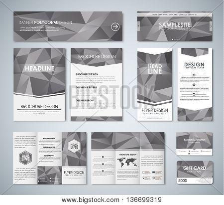 Mockup Polygonal Corporate Identity