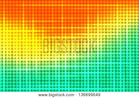 Orange yellow green colors used to create abstract background
