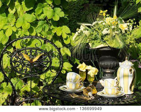 summer in a nice garden in germany