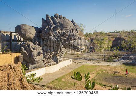 Garuda statue in GWK cultural park Bali Indonesia