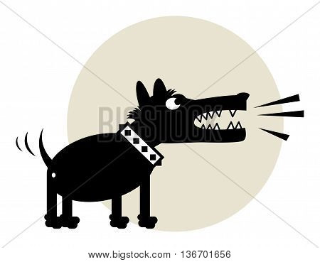 Angry Dog sign or symbol, vector illustration