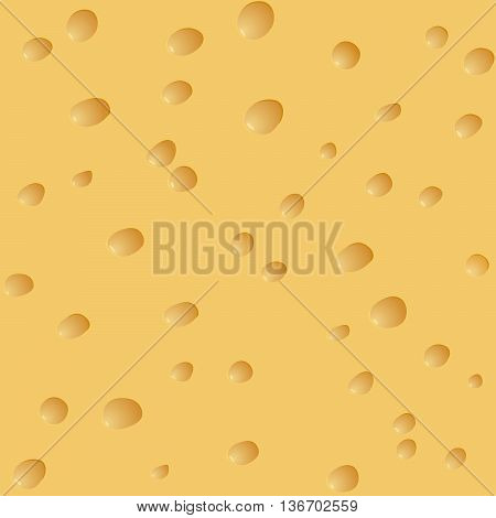 Vector seamless background of cheese with holes.