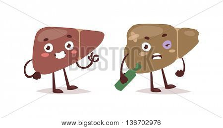 Alcohol harm vector illustration.