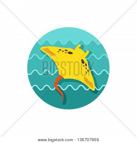 Ramp fish vector icon. Beach. Summer. Summertime. Holiday. Vacation eps 10