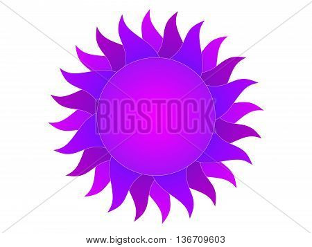 Symbol of the violet sun on a white background