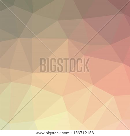 The background triangles. Color pink beige. Abstract geometric background with polygons. Background triangulation.