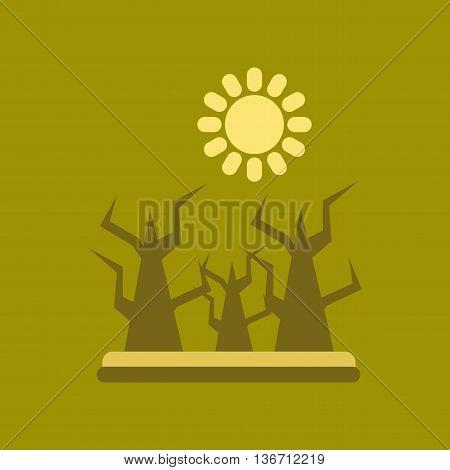 flat icon on stylish background nature drought disaster