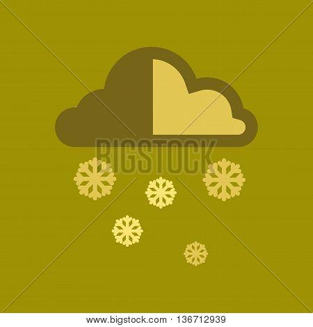 flat icon on stylish background nature cloud Snow
