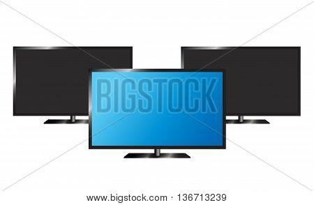 lcd tv monitor, vector illustration. eps 10