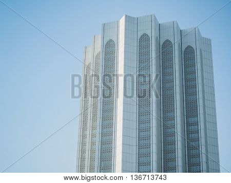 KUALA LUMPUR MALAYSIA - MAR 1: Dayabumi Complex on March 1 2016 in Kuala Lumpur Malaysia. The facade of the tower is adorned with patterns of eight-pointed stars and Islamic arches.