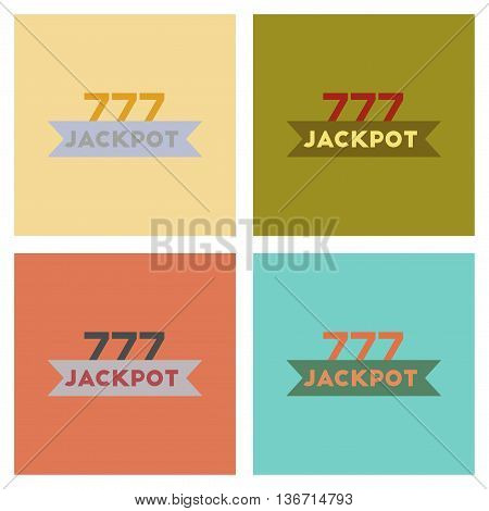 assembly of flat icons poker jackpot Lucky seven