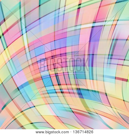 Colorful Smooth Light Lines Background. Pastel Colors. Vector Illustration. Colorful Background. Pin
