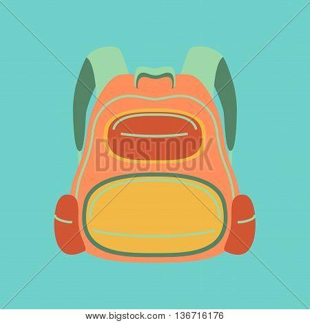 flat icon on stylish background fashionable school bag