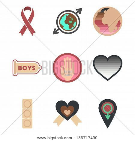 assembly of flat icons group gay symbols