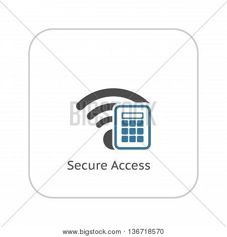 Secure Access Icon. Flat Design. Mobile Devices and Services Concept. Isolated Illustration. App Symbol or UI element.